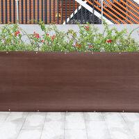 200g/m² Garden Privacy Shade Net Wall Screening Netting Balcony Windbreak Fence, 1x5M