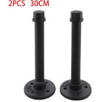 Set of 2 Industrial Pipe Shelf Brackets Heavy Duty Holder Tube Shelving Support
