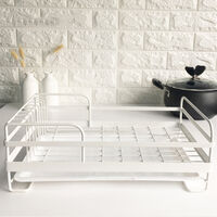 Metal Wire Dish Plates Cup Cutlery Crockery Glass Drainer Rack Drip Tray Fast