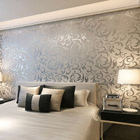Modern Wallpaper Silver Grey Wall Paper for Living Room Bedroom Background Decor