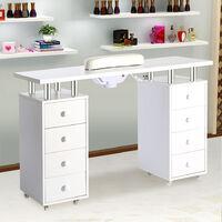 Pro Manicure Nail Table Mobile Storage Beauty Salon Desk