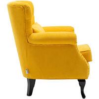 Chesterfield Tub Chair Armchair With Cushion, Yellow