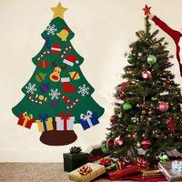 Christmas Tree Felt Ornament Xmas Pendant Children DIY Toy, C