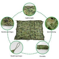 Anti-Aerial Camouflage Net Fabric Shooting Hunting Hide Woodland, 2x3M