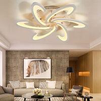 80CM Ceiling Light Floral Crystal LED Pendant Lamp Chandelier, Dimmable