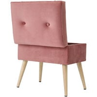 Plush Velvet Storage Trunk Stool Buttoned Seat Chair Toy Box Suitcase Footstool Hot Pink
