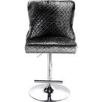 Crushed Velvet Barstool Studded Button Lion Knocker Back Kitchen Bar Stool Seat Black