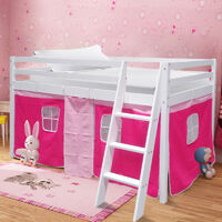 Rose Red Tent For Mid Sleeper Bed Girls Bedroom Toys Games Storage