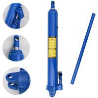 Blue Arm Replacement Hydraulic Engine Lift Hoist Hand Pump Jack Long Ram +Handle 8Ton