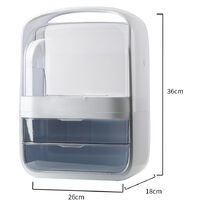 Makeup Cosmetic Bathroom Organiser with Drawer Case, White 26x18x36CM
