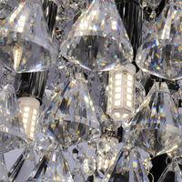 35CM LED Round Crystal Rhombus Modern Chrome Crystal Ceiling Lights, Warm White