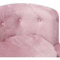 Padded Dog Cat Sofa Puppy Kitten Lounge Elevated Chair Raised Bed Button Back, Pink