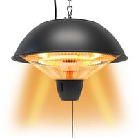Electric Patio Heater 700W, 1500W Ceiling Hanging Mount Heat Lamp