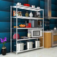 Racking Shelf Heavy Duty Garage Shelving Storage Shelves Unit Stainless Steel, 90x50x150cm