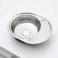Catering Compact Small Single Bowl Stainless Steel Kitchen Sink Drainer Pipe Kit