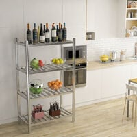 Commercial 4 Tier Catering Storage Rack Shelf Shelving Kitchen Stainless Steel Unit 90x50x150cm