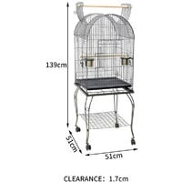 Large Open Playtop Metal Rolling Parrot Bird Cage for Parrots Cockatiels Conure
