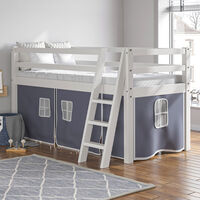 Tent For Mid Sleeper Bed Boys Bedroom Midsleeper Storage With Beside Table