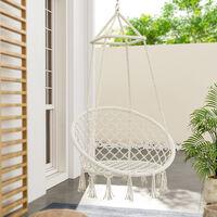 Hanging chair - garden swing seat, hanging egg chair, garden swing chair - beige