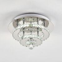 30W LED Ceiling Light Crystal Chandelier Pendant Lamp, Cool White