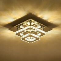 36W LED Ceiling Light Crystal Chandelier Pendant Lamp, Dimmable with Remote