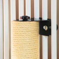 Cat Scratching Post Sisal Rope Scratcher Tower Installed on the fence 7x40 cm