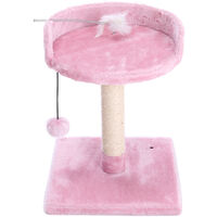 Cat Tree Scratching Post Climbing Activity Centre Sisal Toy Scratcher Tower Pink