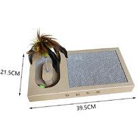 Multifunction Cat Kitten Corrugated Scratcher Scratching Bed Board Mat Post,21.5x39.5cm
