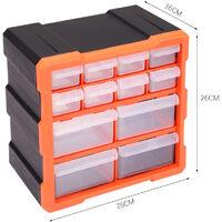 12 Multi Drawer Parts Storage Cabinet Unit Organiser Home Garage Tool Box