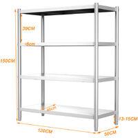 Commercial 304 Shelving Shelf Stainless Steel Heavey Duty Storage Rack 1.2m