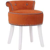 Velvet Vanity Dressing Table Stool Makeup Piano Chair Living Dining Room Bedroom Seat