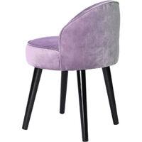 Purple Velvet Vanity Stool Dressing Table Chair Bedroom Side Upholstered Seat