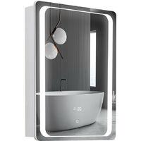 LED Anti-fog Bathroom Wall Mounted Mirror Cabinet 500(W)*700(H)*135(D)mm
