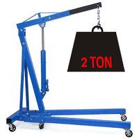 2 Ton Hydraulic Folding Engine Crane Blue