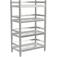 Stainless Steel Kitchen Shelving Unit 4 Tier Storage Rack Commercial Catering 90x50x150cm