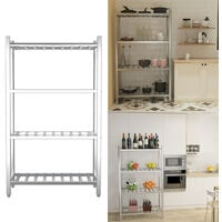 Commercial Catering Shelf Stainless Steel Storage Rack Kitchen Shelving Unit