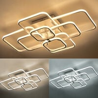 Square LED Dimmable Chandelier Ceiling Light With Remote, 8 Head