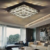 Modern LED Ceiling Light Crystal Chandelier Lamp, 60CM Dimmable