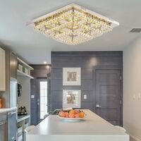 Modern LED Ceiling Light Crystal Chandelier Lamp, 70CM Dimmable