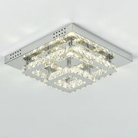 Modern LED Ceiling Light Crystal Chandelier Lamp, 40CM Dimmable