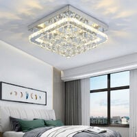 40CM Square LED Crystal Chandelier Pendant Ceiling Light, Dimmable