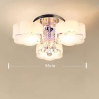 LED Crystal Ceiling Light Flower Chandelier Lamp With Remote, 3 Way