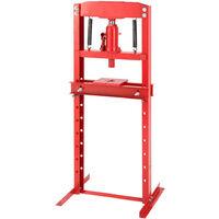 H Fram 12 ton Floor Hydraulic Bench Press Workshop Garage Press Machines, Red