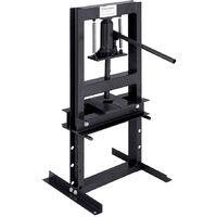 6 Ton Heavy Duty Hydraulic Bench Press Machine Workshop Garage Bearing Standing, Black