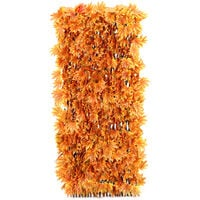 Garden Artificial Hedge Leaf Expanding Privacy Screening Fence, Orange Maple 90x180CM