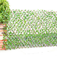 Garden Artificial Hedge Leaf Expanding Privacy Screening Fence, Green Watermelon 90x180CM