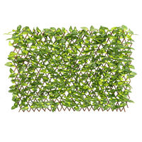 Garden Artificial Hedge Leaf Expanding Privacy Screening Fence, Green Perilla 90x180CM