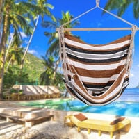 Hammock Chair Swing Striped Seat Outdoor Garden Furniture