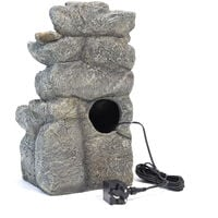 Natural Slate Garden Water Feature Outdoor LED Fountain Waterfall Electric Powered