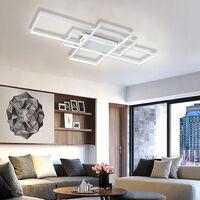 Modern Rectangle LED Chandelier Ceiling Light , 90CM Cool White